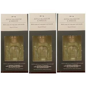 3 Treshold Apple Blossom Breeze Reed Diffuser NEW